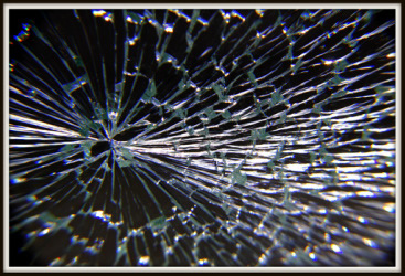 Cracked window glass replaced
